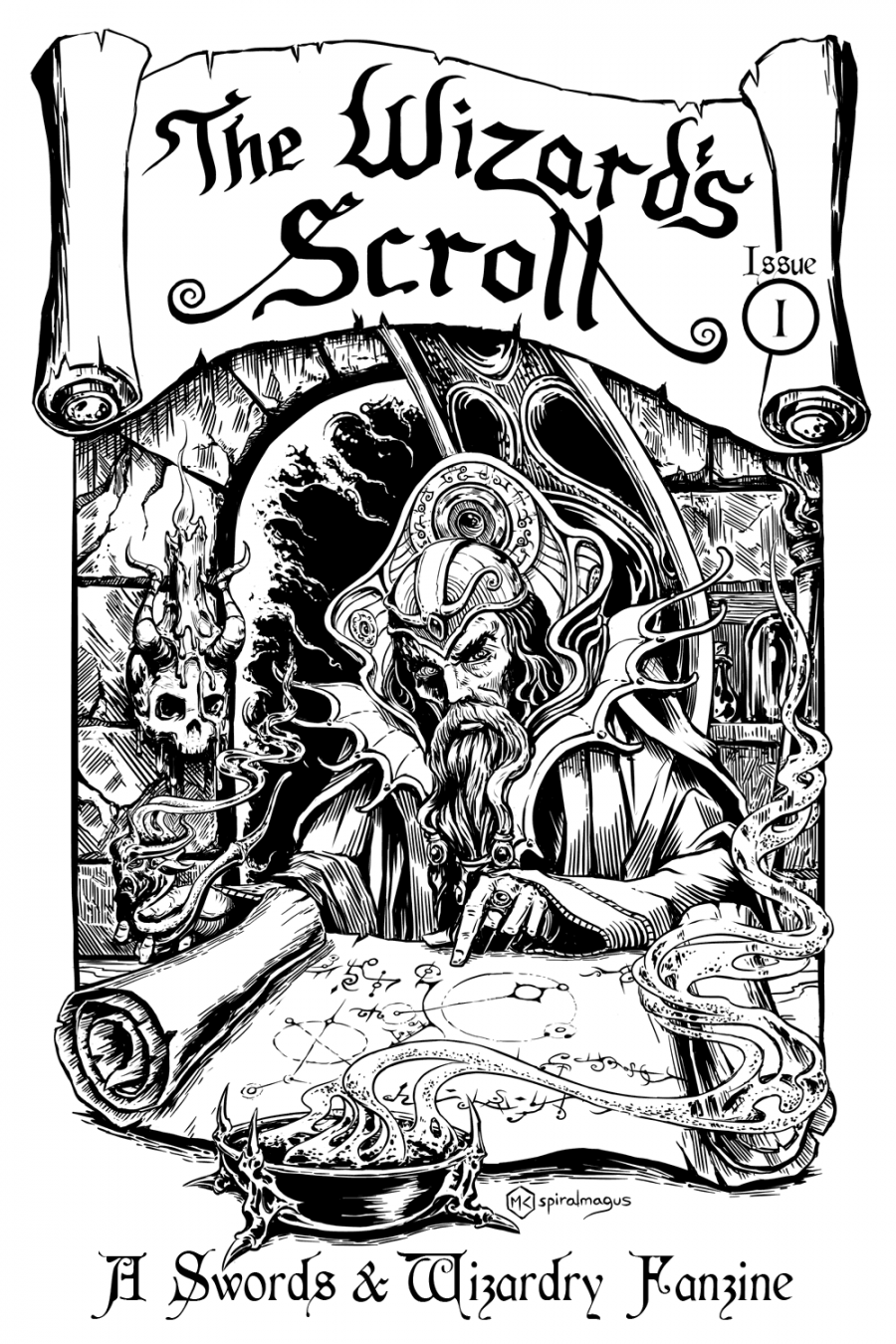 The Wizard's Scroll - Issue 1 Cover Art
