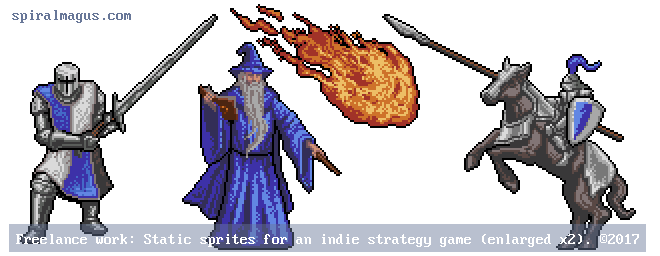 Strategy Game Sprites (enlarged x2)